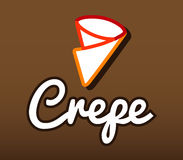 Crepe Logo Design Royalty Free Stock Photography