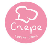 Crepe Logo Design With Chef`s Hat Stock Images
