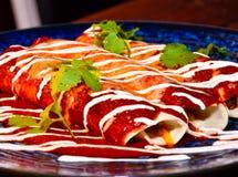 Crepe mexicana con carne de vaca fotografía de archivo