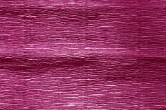 Crepe paper with blur effect in pink color. royalty free stock photography