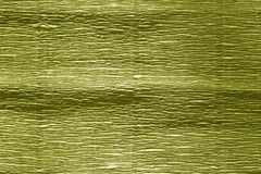 Crepe paper with blur effect in yellow color. stock image
