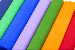 Crepe paper . colored Stock Photography
