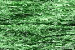 Crepe paper in green color. royalty free stock image