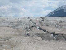 Crepe pericolose sul ghiacciaio al parco nazionale di Banff. Immagini Stock Libere da Diritti