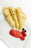Crepe on a plate Royalty Free Stock Images