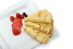 Crepe on a plate Stock Photography