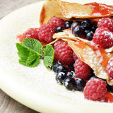 Crepe raspberry mint Royalty Free Stock Image