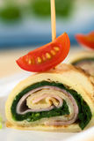 Crepe Roll Filled with Ham and Spinach Royalty Free Stock Photo
