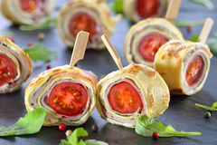 Crepe rolls Stock Images