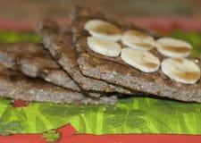 Crepe sana de la harina de avena Foto de archivo