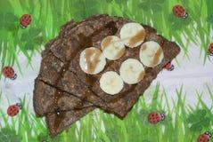 Crepe sana de la harina de avena Imagen de archivo libre de regalías