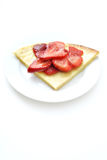 Crepe with strawberries Stock Photography
