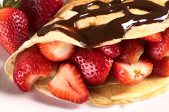 Crepe with Strawberries Royalty Free Stock Photography