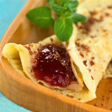 Crepe with Strawberry jam Royalty Free Stock Photos