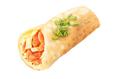 Crepe stuffed with salmon royalty free stock photo