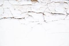 Crepe sulla superficie di vecchia pittura bianca Fotografia Stock Libera da Diritti