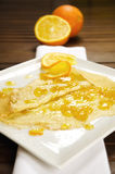 Crepe Suzette, pancake with orange marmalade Stock Photography