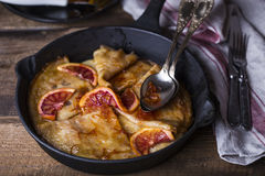 Crepe suzette, traditional french pancakes Stock Images