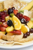 Crepe topped with fresh fruit Royalty Free Stock Image