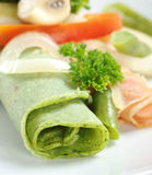 Crepe with Vegetables stock image