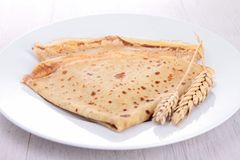 Crepe and wheat Stock Photos
