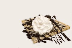 Crepe with whipped cream Stock Photography
