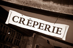 Creperie Stock Photo
