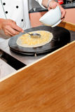 Creperie buffet. Preparing a crepe in a party Royalty Free Stock Photography