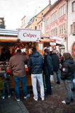 Creperie at the christmas market Stock Photo