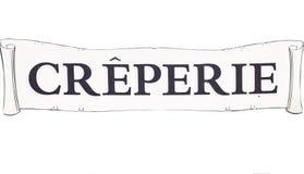 Creperie-Plakat Lizenzfreies Stockfoto