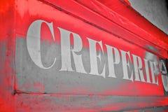 Creperie-Zeichen Lizenzfreie Stockfotos