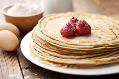 Crepes. Stack of freshly made crepes Stock Images