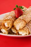 Crepes. Filled with cream cheese Royalty Free Stock Photography