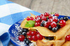 Crepes with berries Royalty Free Stock Photography