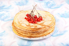 Crepes with berry Royalty Free Stock Photography