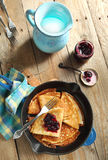 Crepes with black currant Stock Photography