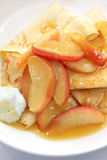Crepes with Caramellized Apple Stock Images