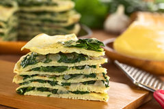 Crepes with Chard Stock Images