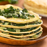 Crepes with Chard Royalty Free Stock Photography
