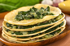 Crepes with Chard Royalty Free Stock Image