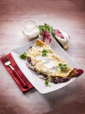Crepes with chicory and cheese Stock Image