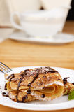 Crepes with chocolate sauce Stock Photography