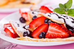 Crepes Close Up Royalty Free Stock Photo