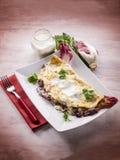 Crepes com chicória e queijo Imagem de Stock