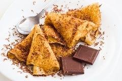 Crepes com chocolate Foto de Stock