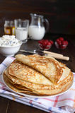 Crepes with cottage cheese Royalty Free Stock Image