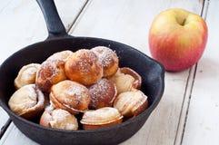Crepes danesas de la manzana Fotografía de archivo