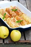 Crepes de Apple caseiros Fotos de Stock Royalty Free