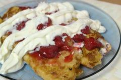 Crepes de fraise Photo stock