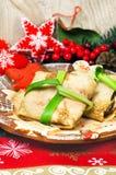 Crepes de la comida de la Navidad Foto de archivo